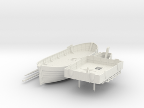Swedish Warship V1 in White Natural Versatile Plastic