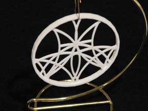 Ornament 01e in White Natural Versatile Plastic