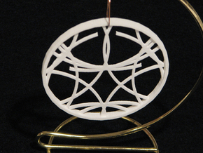 Ornament 01f in White Natural Versatile Plastic