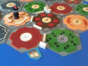 Catan Hex Tile Desert 79mm in Full Color Sandstone