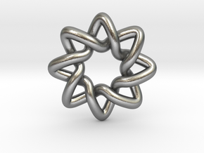 Basic Compass Knot in Natural Silver