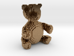 Voxel Bear in Natural Brass