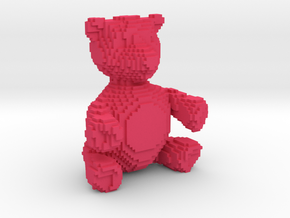 Voxel Bear in Pink Strong & Flexible Polished