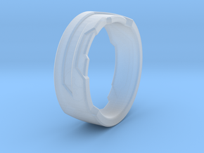 Ring Size G in Smooth Fine Detail Plastic