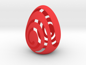 EggShell in Red Processed Versatile Plastic