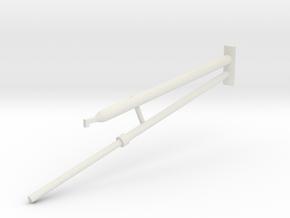 36C-J Mission-Pushing Rod Scenario 3 to 7 in White Natural Versatile Plastic