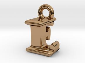 3D Monogram Pendant - LFF1 in Polished Brass