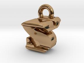 3D Monogram - SYF1 in Polished Brass