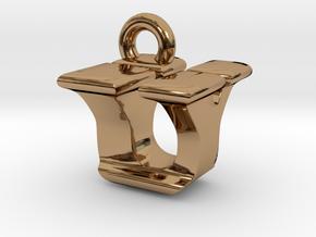 3D Monogram - UYF1 in Polished Brass