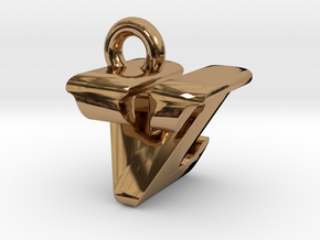 3D Monogram - VZF1 in Polished Brass