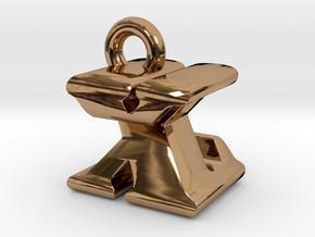 3D Monogram - XZF1 in Polished Brass