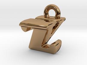 3D Monogram - ZVF1 in Polished Brass