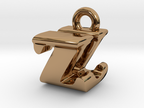 3D Monogram - ZUF1 in Polished Brass