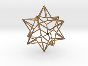 Stellated Dodecahedron in Natural Brass