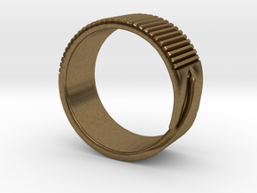 Rift Ring - EU Size 63 in Natural Bronze