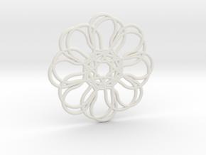 HOT POT MAT in White Natural Versatile Plastic