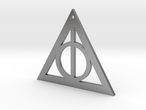 Deathly Hallows Pendant in Natural Silver