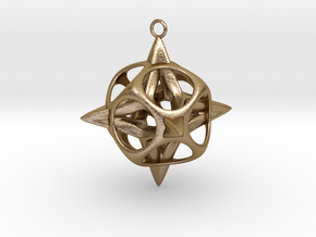 Christmas Star No.2 in Polished Gold Steel