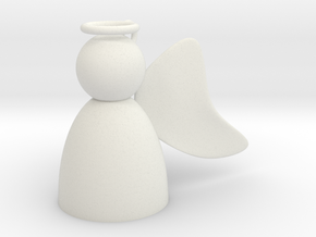 Angel with Wings Back in White Natural Versatile Plastic