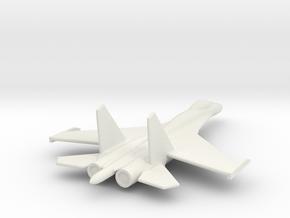 Su-27 Flanker B Russian Jet 1/285 scale in White Natural Versatile Plastic