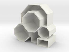 Pencil Box in White Natural Versatile Plastic