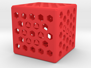 Dice39 in Red Processed Versatile Plastic