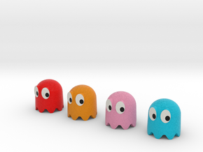 Pac-Man ghosts 4pack in Full Color Sandstone