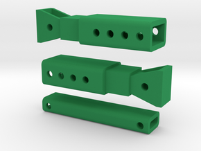 Trench Box Bars in Green Strong & Flexible Polished