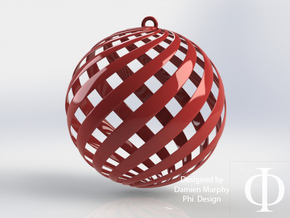Holiday Decoration Loxo Ball in Red Strong & Flexible Polished