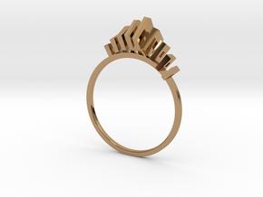 IX²  in Polished Brass