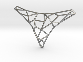 Polygon necklace in Natural Silver