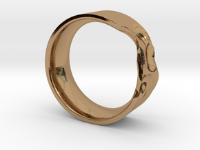 The Crumple Ring - 21mm Dia in Polished Brass