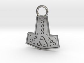 Mjolnir Pendant / Keychain in Natural Silver