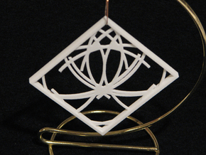 Ornament 03f in White Strong & Flexible