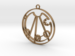 Lindsay - Necklace in Natural Brass