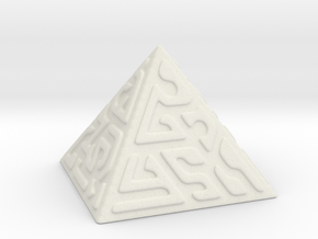 Glyph Pyramid in White Natural Versatile Plastic