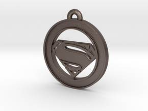 Clasic Superman Circle-pendant in Stainless Steel