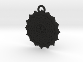 Crown Chakra in Black Natural Versatile Plastic