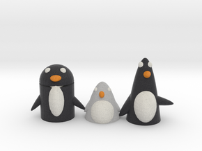 A Penguin Family Version 3  in Full Color Sandstone