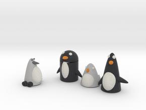 Robo Penguin Reseaching Real Penguins  in Full Color Sandstone