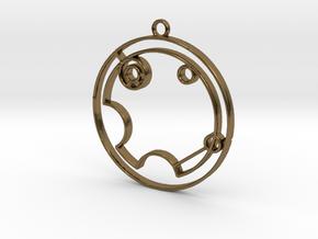 Violet - Necklace in Polished Bronze