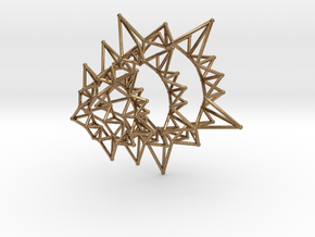 Star Rings 5 Points - 3 pack - 6cm in Natural Brass