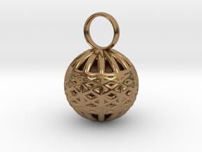 Ornament Pendant in Natural Brass