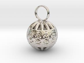 Ornament Pendant in Platinum