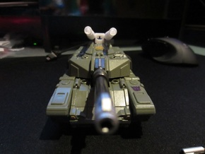 WB01-B Heavy Noisy G1 Double Canons in White Natural Versatile Plastic