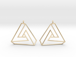 Impossible earrings with a twist  in 14K Yellow Gold