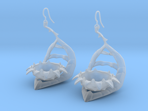 Carnivorous plant earring Planter in Smooth Fine Detail Plastic