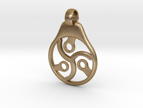 Steam Punk Triskelion Larger Version in Polished Gold Steel