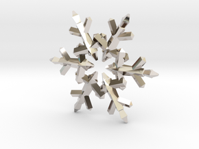 Snow Flake 6 Points C - 5cm in Platinum