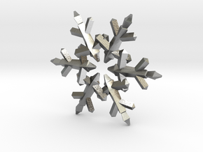 Snow Flake 6 Points C - 5cm in Natural Silver